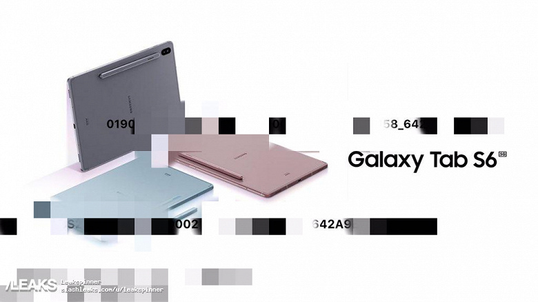 Флагманский планшет Samsung Galaxy Tab S6 5G на первых официальных изображениях