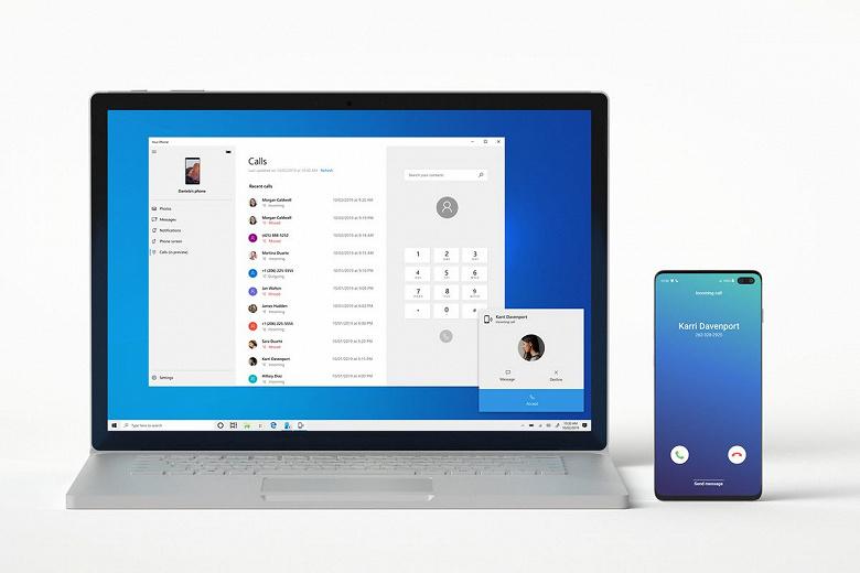 Windows 10 стала еще ближе к macOS. Добавлены звонки со смартфона на ПК