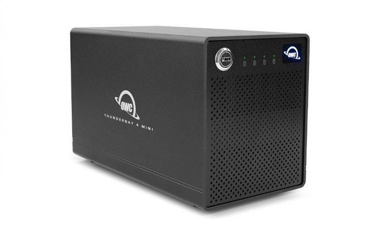 Миниатюрное внешнее хранилище OWC ThunderBay 4 рассчитано на четыре накопителя типоразмера 2,5 дюйма