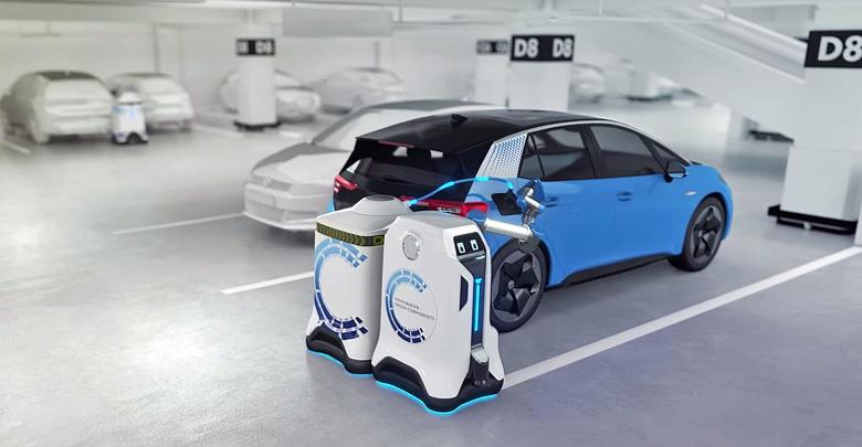 Революция в сфере зарядки электромобилей? Зарядкой будут заниматься автономные роботы