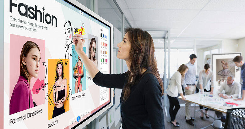 В России появился интерактивный дисплей Samsung Flip 2