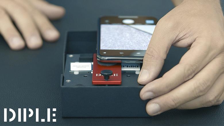 Микроскоп Diple, подключаемый к смартфону, обеспечивает увеличение в 1000 раз