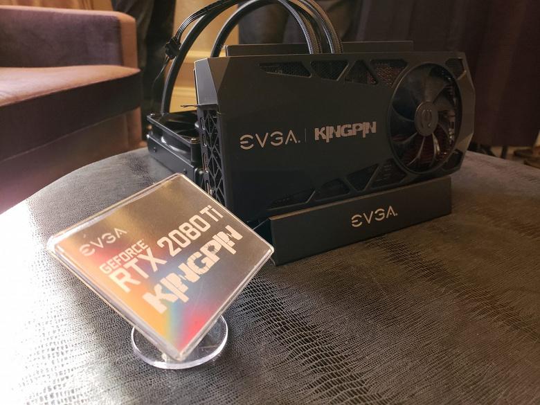 Видеокарту EVGA GeForce RTX 2080 Ti KINGPIN Hybrid разогнали до 2,7 ГГц, она установила мировой рекорд в 3DMark Port Royal