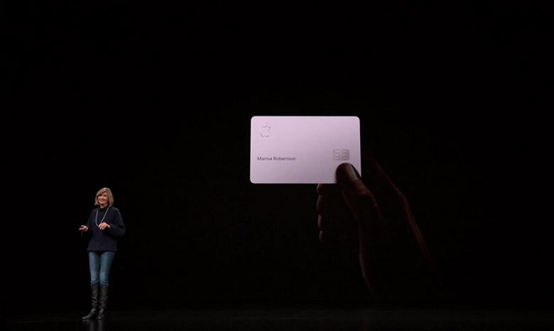 Представлена кредитная карта Apple Card