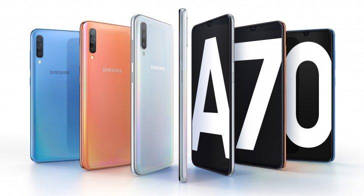 Представлен Samsung Galaxy A70: SoC Snapdragon 670, два модуля камеры разрешением 32 Мп, аккумулятор емкостью 4500 мА·ч и зарядка быстрее, чем у Galaxy S10