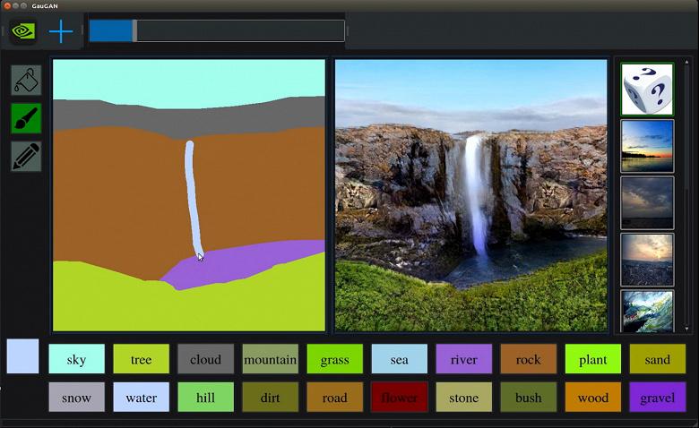 Каждый сможет быть художником. Nvidia показала нейросеть GauGAN, которая превратит рисунок уровня Paint в реалистичное изображение