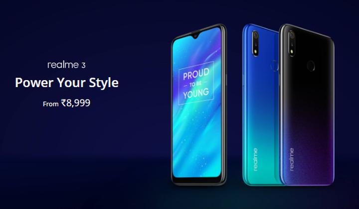 Смартфон Realme 3, называемый конкурентом Redmi 7, поступает в продажу
