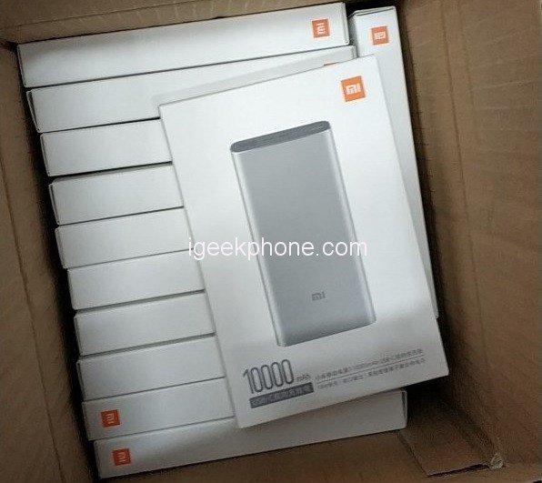 45-ваттный портативный аккумулятор Xiaomi емкостью 10 000 мА•ч выйдет в марте