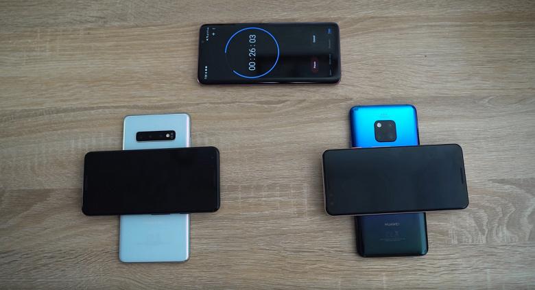 Реверсивная зарядка у Samsung Galaxy S10+ оказалась существенно мощнее, чем у Huawei Mate 20 Pro