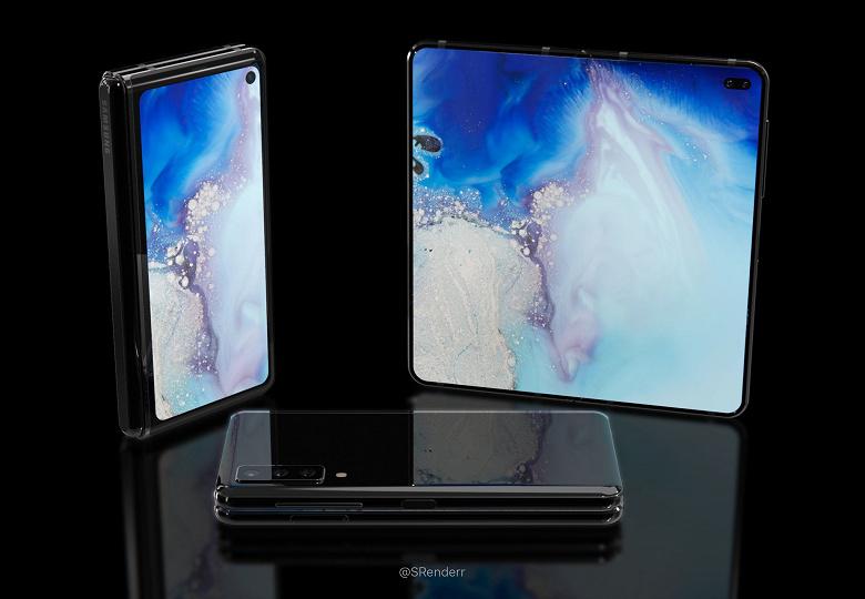 Сгибающийся смартфон Samsung Galaxy Fold 2 показан со всех сторон в качественном ролике