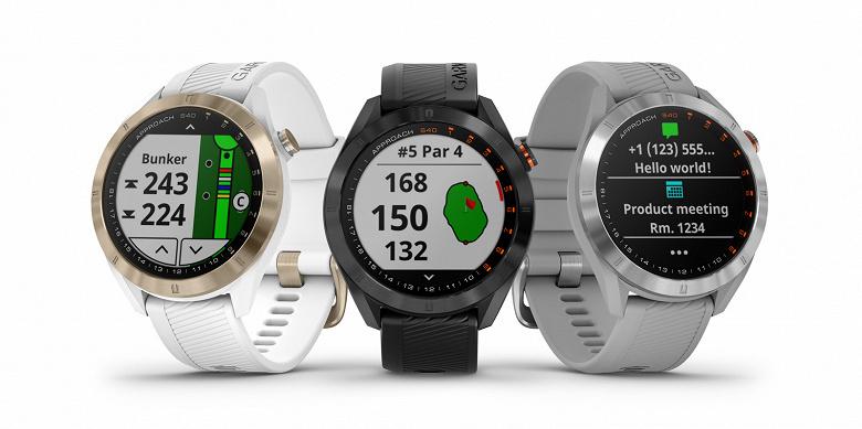 Производитель называет Garmin Approach S40 GPS «стильными повседневными умными часами для игроков в гольф»