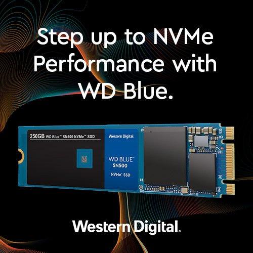 Представлен твердотельный накопитель WD Blue SN500 NVMe