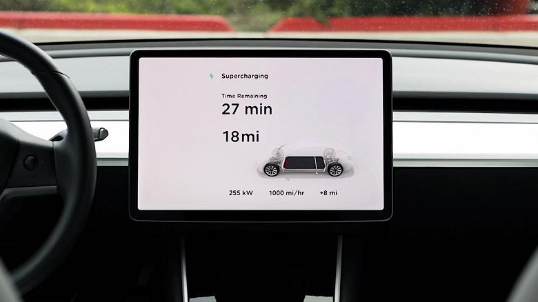 Зарядить за 300 секунд. Представлена зарядная станция Tesla Supercharger V3