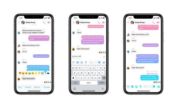 Ответ на конкретное сообщение. Facebook Messenger получил функцию, которая давно есть у других мессенджеров