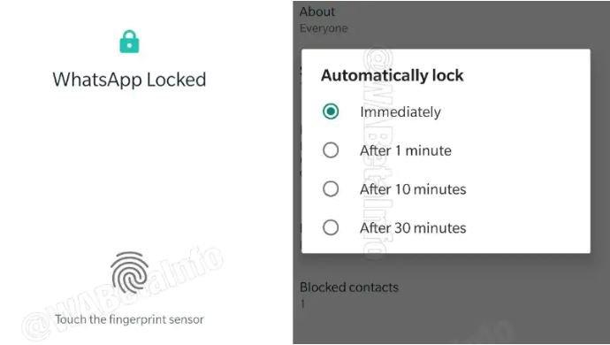 В WhatsApp для Android также появилось распознавание по отпечатку пальца