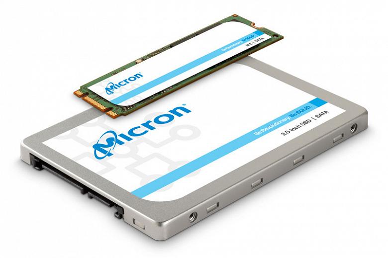 В твердотельных накопителях Micron 1300 используется 96-слойная флэш-память TLC 3D NAND