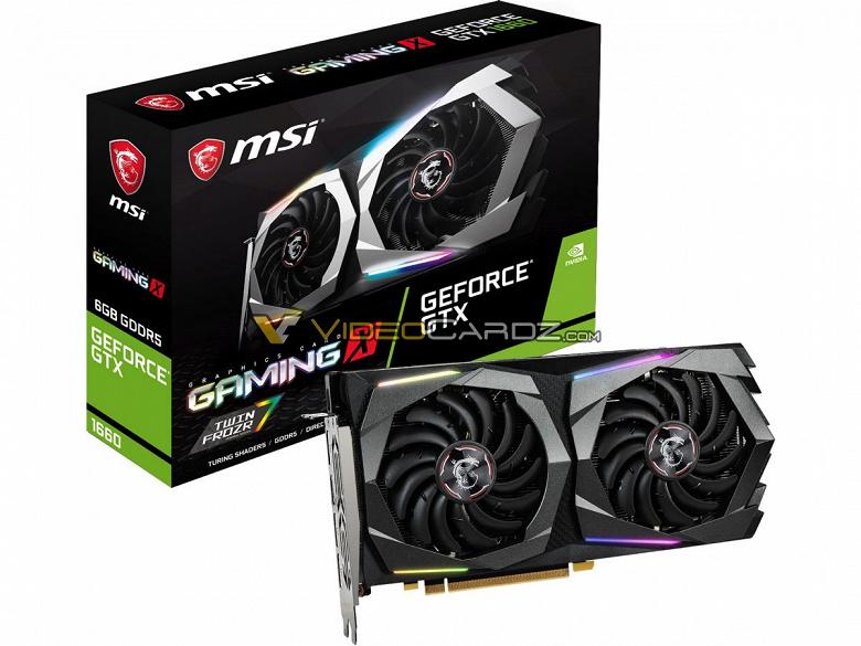 Без памяти GDDR6: появились параметры видеокарты GeForce GTX 1660