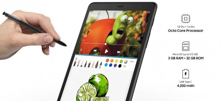 Представлен планшет Samsung Galaxy Tab A 8.0 со стилусом S Pen