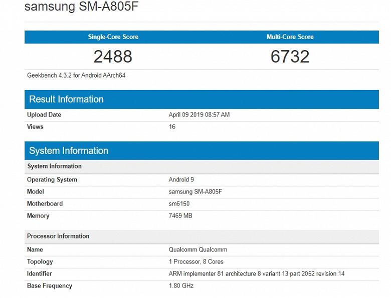 Смартфон Samsung Galaxy A80 точно порадует владельцев производительностью