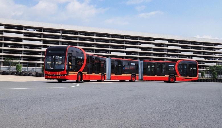 Самый длинный в мире: BYD представила 27-метровый электрический автобус K12A