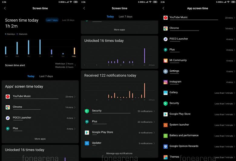 Смартфоны Xiaomi теперь могут ограничивать время использования приложений