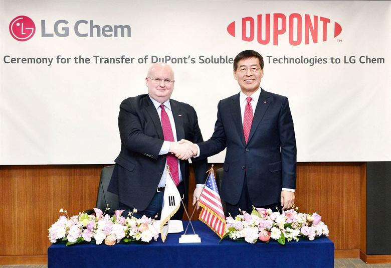 LG Chem покупает у DuPont технологию, необходимую для изготовления панелей OLED методом струйной печати