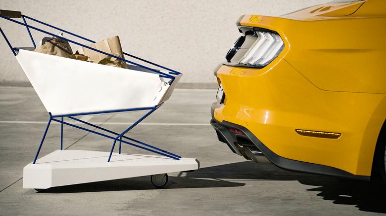 Разработанная специалистами Ford тележка для покупок оснащена системой автоматического торможения