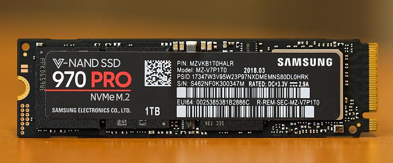 Накопитель Samsung 970 Pro вскоре станет доступен в версии объёмом 2 ТБ