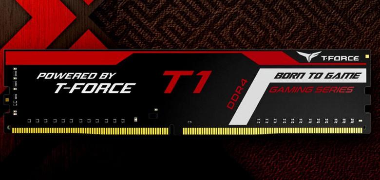 Модули памяти T-Force T1 украшены цветной печатью