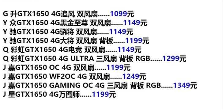 Реальная стоимость разных вариантов GeForce GTX 1650: от $165 за референс до $200 за разогнанную версию Gigabyte с тремя вентиляторами