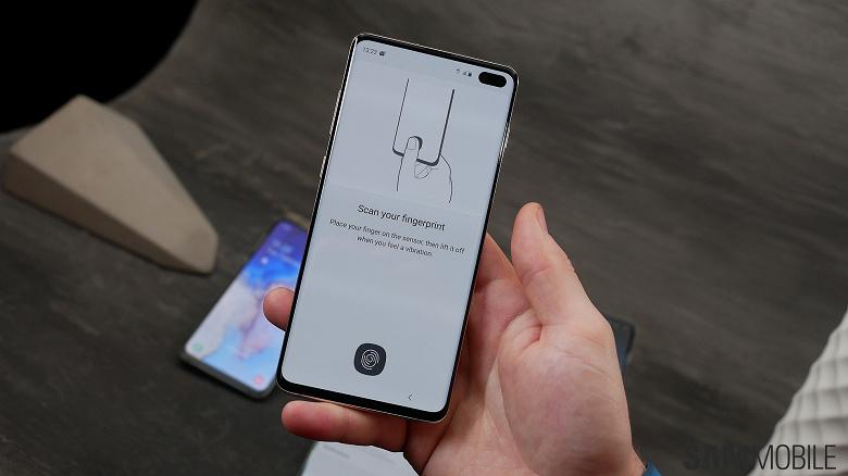 Samsung исправила работу сканеров отпечатков пальцев в смартфонах Galaxy S10