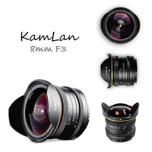 Завтра начнутся продажи объектива Kamlan 8mm f/3.0