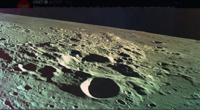 Не получилось: израильский космический аппарат Beresheet разбился при попытке приземлиться на Луну