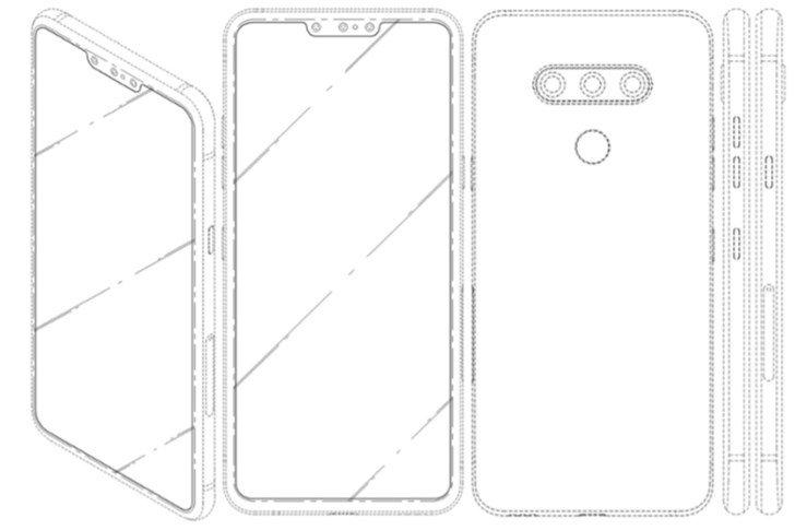 LG выпустит смартфон с тройной фронтальной камерой