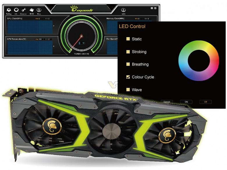 Manli GeForce RTX 2080 Ti Gallardo with customized LED Lights — когда длина названия полностью соответствует длине самой видеокарты