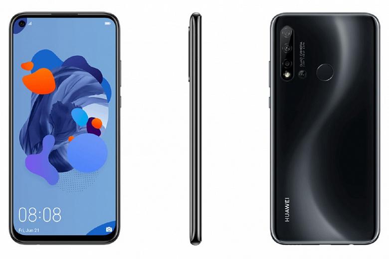 Huawei P20 Lite (2019) позирует на рендерах с врезанной фронтальной камерой и четырехмодульной основной
