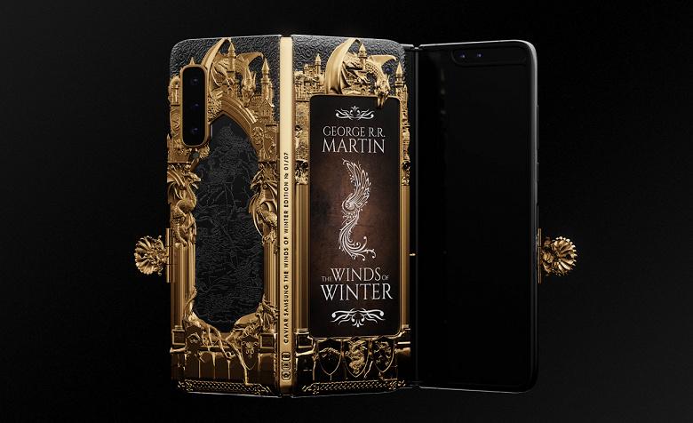Смартфон за полмиллиона. В России превратили складной Samsung Galaxy Fold в золотую книгу «Игры Престолов»