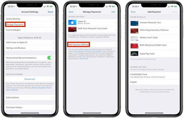 Свершилось. Оплата через Apple Pay появилась в iTunes, App Store, Apple Music и iCloud