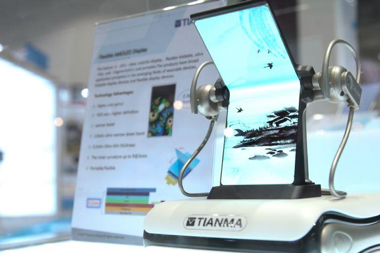 На рынке производителей гибких экранов для смартфонов появился новый игрок. Tianma показала сгибающийся дисплей диагональю 7,4 дюйма