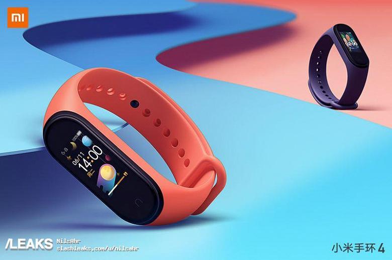 Фитнес-браслет Xiaomi Mi Band 4 красуется на качественных рекламных изображениях
