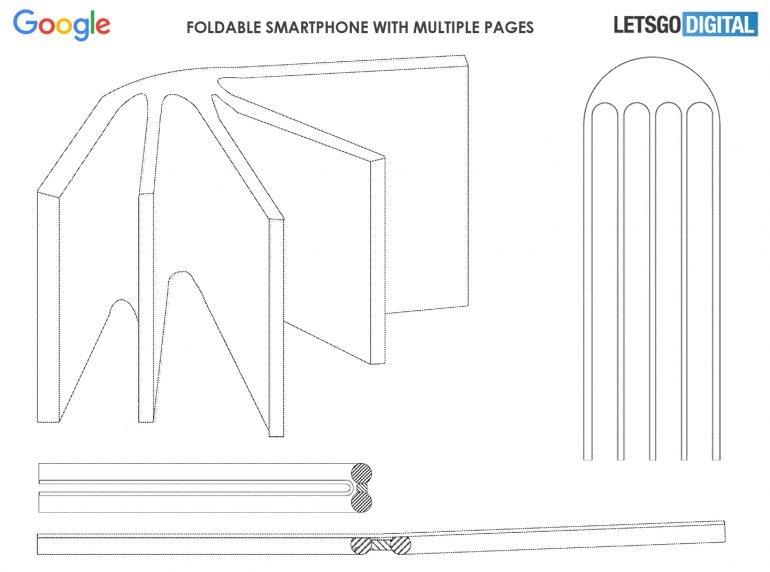 Гибких экранов может быть несколько. Google разрабатывает многостраничный смартфон-книжку