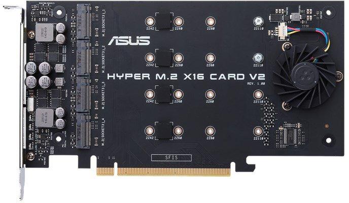 Каталог Asus пополнила карта расширения Hyper M.2 x16 V2 для создания массивов SSD RAID