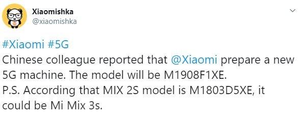 Xiaomi Mi Mix 3s со встроенным модемом 5G выйдет в августе, а Mi Mix 3 подешевеет