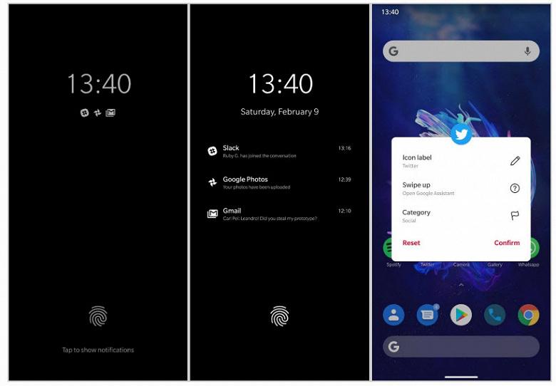 Так может выглядеть OxygenOS 10 на базе Android 10 Q