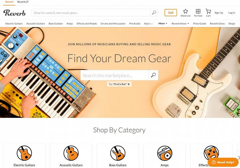 Etsy покупает самый известный онлайновый рынок музыкальных инструментов и оборудования