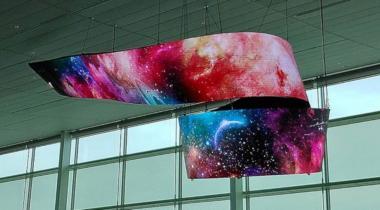 LG установила в аэропорту Инчхона необычную вывеску из панелей OLED
