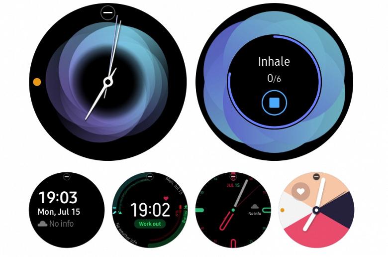 Циферблаты умных часов Galaxy Watch Active стали доступны для других моделей Samsung