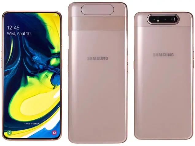 Видео демонстрирует сложную конструкцию камеры-перевертыша нового смартфона Samsung Galaxy A80