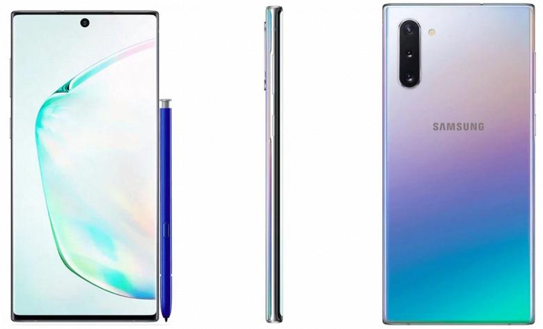 Опубликованы изображения двух вариантов смартфона Samsung Galaxy Note 10