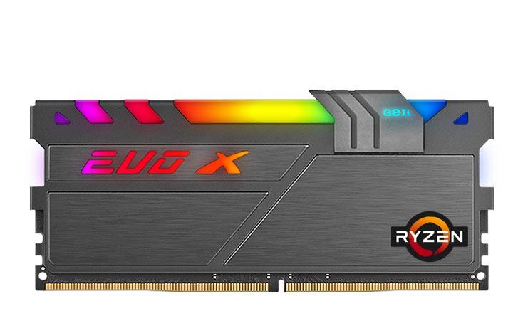 Модули памяти GeIL EVO X II, EVO X II AMD Edition и EVO X II ROG-certified украшены полноцветной подсветкой